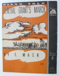 Sheet Music For 1936 General Grant's March