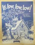 Sheet Music For 1943 It's Love, Love, Love