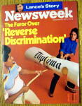 Click to view larger image of Newsweek Magazine-September 26, 1977-Discrimination (Image1)
