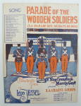 Sheet Music For 1932 Parade Of The Wooden Soldiers