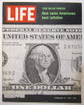 Click to view larger image of Life Magazine February 13, 1970 Americans & Inflation (Image1)
