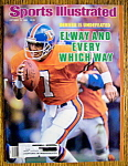 Sports Illustrated Magazine-October 13, 1986- J. Elway
