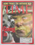 Time Magazine October 29, 2001 Going In