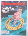 Click to view larger image of Newsweek Magazine-May 14, 1973-Can He Stay Afloat? (Image1)
