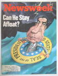Click to view larger image of Newsweek Magazine-May 14, 1973-Can He Stay Afloat? (Image2)