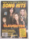 Click here to enlarge image and see more about item 24221: Song Hits Magazine November 1990 Slaughter