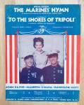 1932 The Marines' Hymn Sheet Music Shores of Tripoli