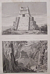 Monuments Mexicains  (1852 Lithograph)