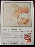 Click here to enlarge image and see more about item 2568: Norman Rockwell 1956 Swift Meats Ad