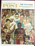 Click here to enlarge image and see more about item 2579: Norman Rockwell April 1, 1961 Sat Eve Post Cover