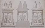 Tombeau De Louis XII, A St Denis (1852 Lithograph)