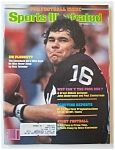 Sports Illustrated Magazine -Sept 7, 1981- Jim Plunkett
