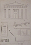 Click to view larger image of Temple De Thesee A Athenes (1852 Lithograph) (Image1)