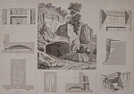 Click to view larger image of Tombeaux A Castel-D'Asso, Pres Viterbe -1852 Lithograph (Image1)