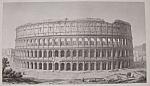 Amphitheatre Flavien, A Rome (1852 Lithograph)