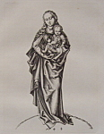 Click here to enlarge image and see more about item 398: The Madonna, With The Infant Christ By M. Schongauer