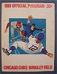 Click here to enlarge image and see more about item 4043: Chicago Cubs Official Program-1981-Cubs vs Dodgers