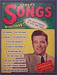 Click here to enlarge image and see more about item 4050: Screen Songs Magazine -April 1948- Dennis Morgan Cover