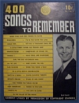 Click here to enlarge image and see more about item 4056: 400 Songs To Remember - December 1939