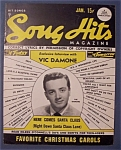Song Hits Magazine - Jan 1950 - Vic Damone Cover