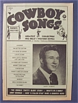 Click here to enlarge image and see more about item 4162: Cowboy Songs Magazine - Jan 1961 - Marty Robbins Cover