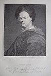 Original 1881 Engraving of John Gay