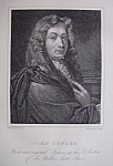 Original 1881 Engraving of John Dryden