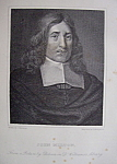 Original 1881 Engraving of John Milton