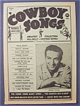 Click here to enlarge image and see more about item 4226: Cowboy Songs -Fall 1961- Faron Young