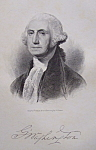 Click here to enlarge image and see more about item 423: 1849 Engraving of President George Washington