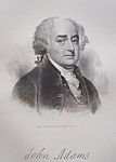 1849 Engraving of President John Adams Founding Father