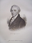President James Monroe 1849 Engraving