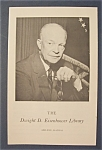 Presidential Library 1969 Dwight D. Eisenhower Pamphlet