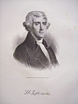Founding Father President Thomas Jefferson Engraving