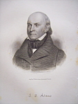 Click here to enlarge image and see more about item 428: 1849 Engraving of President John Quincy Adams