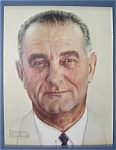 Click here to enlarge image and see more about item 4464: Norman Rockwell 1964 Lyndon B. Johnson