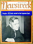 Click to view larger image of Newsweek Magazine-March 27, 1939-William O. Douglas (Image1)