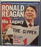 Click here to enlarge image and see more about item 4495: Ronald Reagan 1911 - 2004 His Legacy Magazine