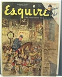 Click here to enlarge image and see more about item 4498:  Esquire  Magazine - January 1948  (Holiday  Issue)