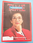 Time Magazine -January 5,1987- President Corazon Aquino