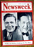 Newsweek Magazine-July 8, 1940-Willkie & Mc Nary