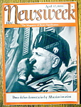 Newsweek Magazine-April 17, 1939-Duce Defies Democracy