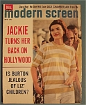 Click here to enlarge image and see more about item 4911: Modern Screen Magazine - Dec 1962 - Jackie
