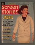 Click here to enlarge image and see more about item 4914: Screen Stories Magazine - April 1965 - Jackie