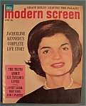 Click here to enlarge image and see more about item 4915: Modern Screen Magazine - June 1962 - Jackie