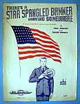 Sheet Music Of 1942 There's A Star Spangled Banner