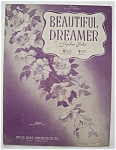 Sheet Music For 1940 Beautiful Dreamer