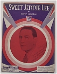 Sheet Music Of 1930 Sweet Jennie Lee / Walter Donaldson