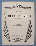 Sheet Music For 1948 Blue Smoke