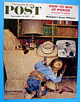 Click here to enlarge image and see more about item 5525: Saturday Evening Post Cover - Nov 9, 1957 - John Falter